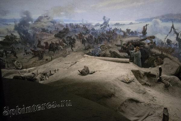 Военная сцена в музее