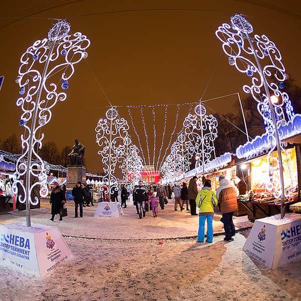 Ярмарка новогодняя в питере