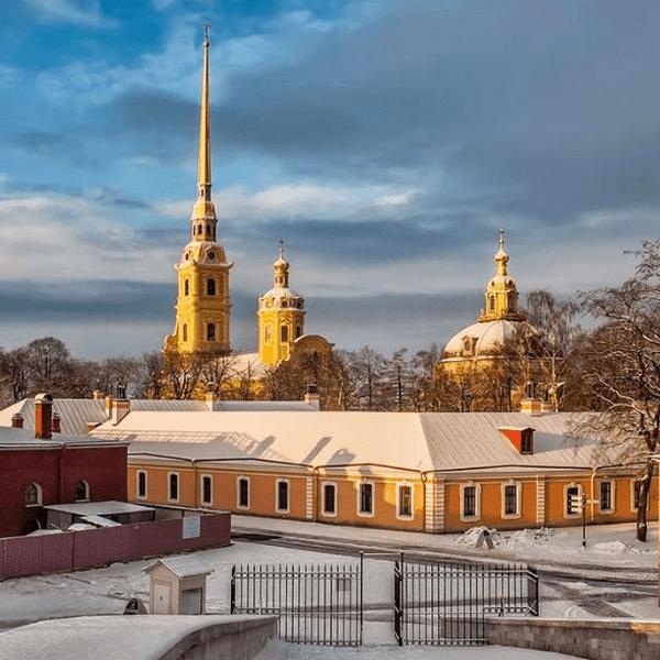 Петропавловская крепость зима