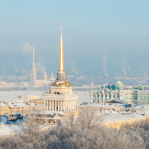 Адмиралтейство зимой