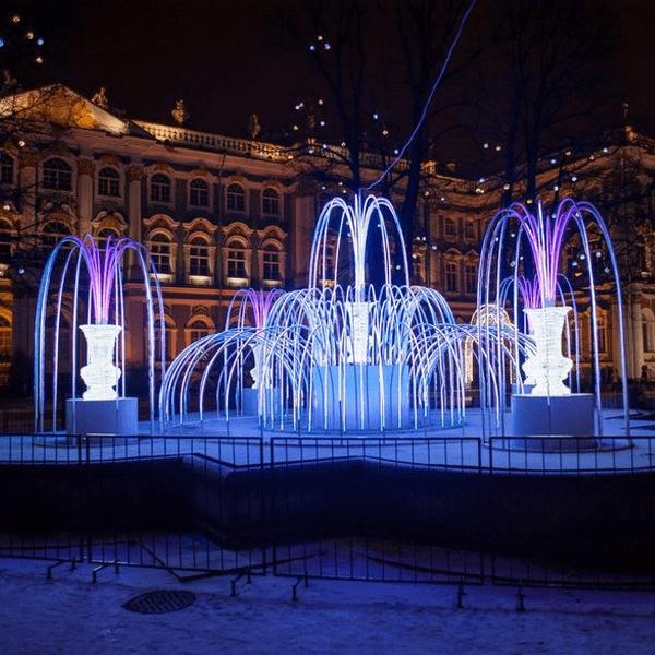 Зимние фонтаны Салтыковского сквера