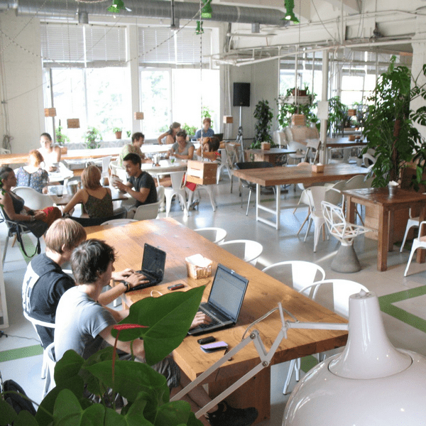 кофейня зелёная комната в лофт проекте этажи