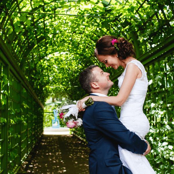 свадьба в летнем саду