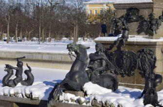 Петергоф зимой - моя поездка, отзыв