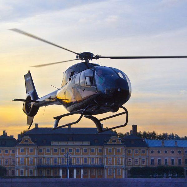 Вертолетные полёты над городом спб