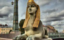 egipetskij most +v sankt peterburge foto