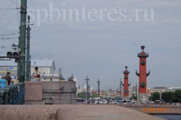 Ростральные колонны на стрелке Васильевского острова