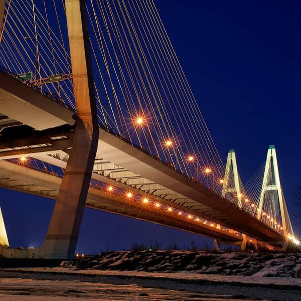 большой обуховский мост в санкт-петербурге