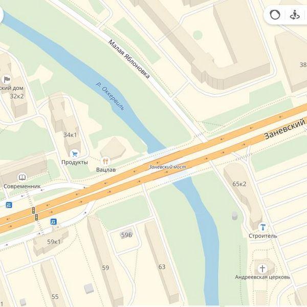 заневский мост санкт петербург на карте