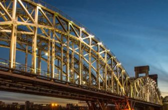 Финляндский железнодорожный мост в Санкт-Петербурге