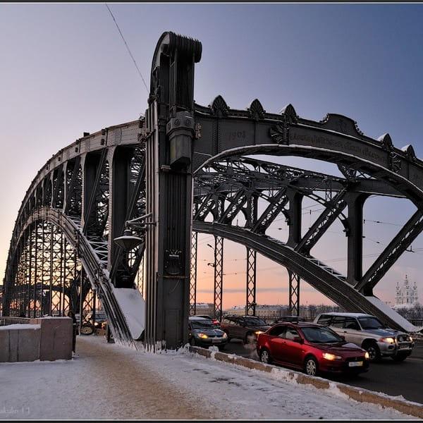 большеохтинский мост +в санкт петербурге