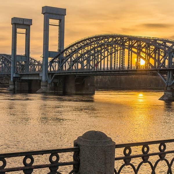 финляндский железнодорожный мост разводка