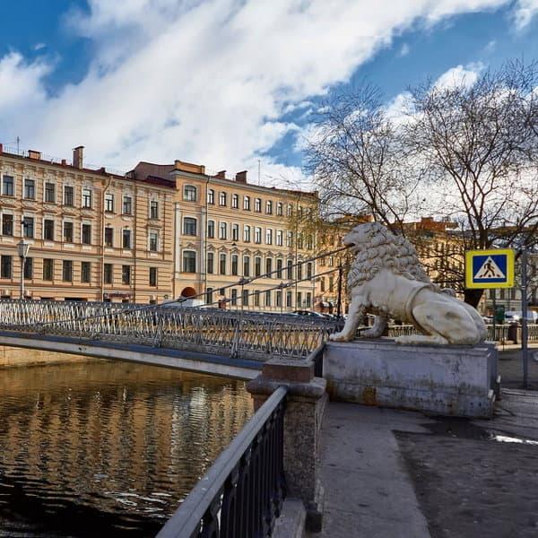 львиный мост в санкт петербурге
