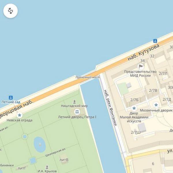 прачечный мост в санкт петербурге на карте