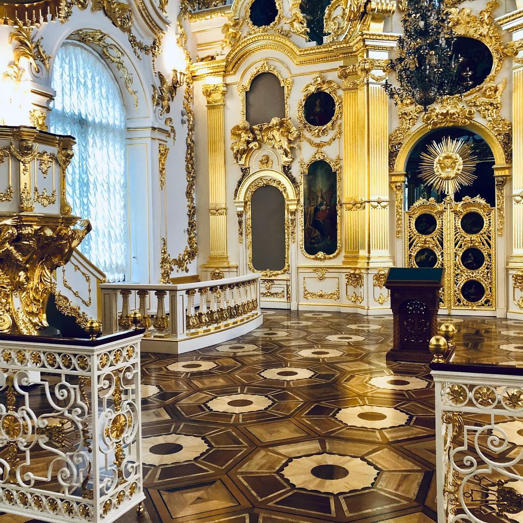 Большая церковь Зимнего дворца в Эрмитаже