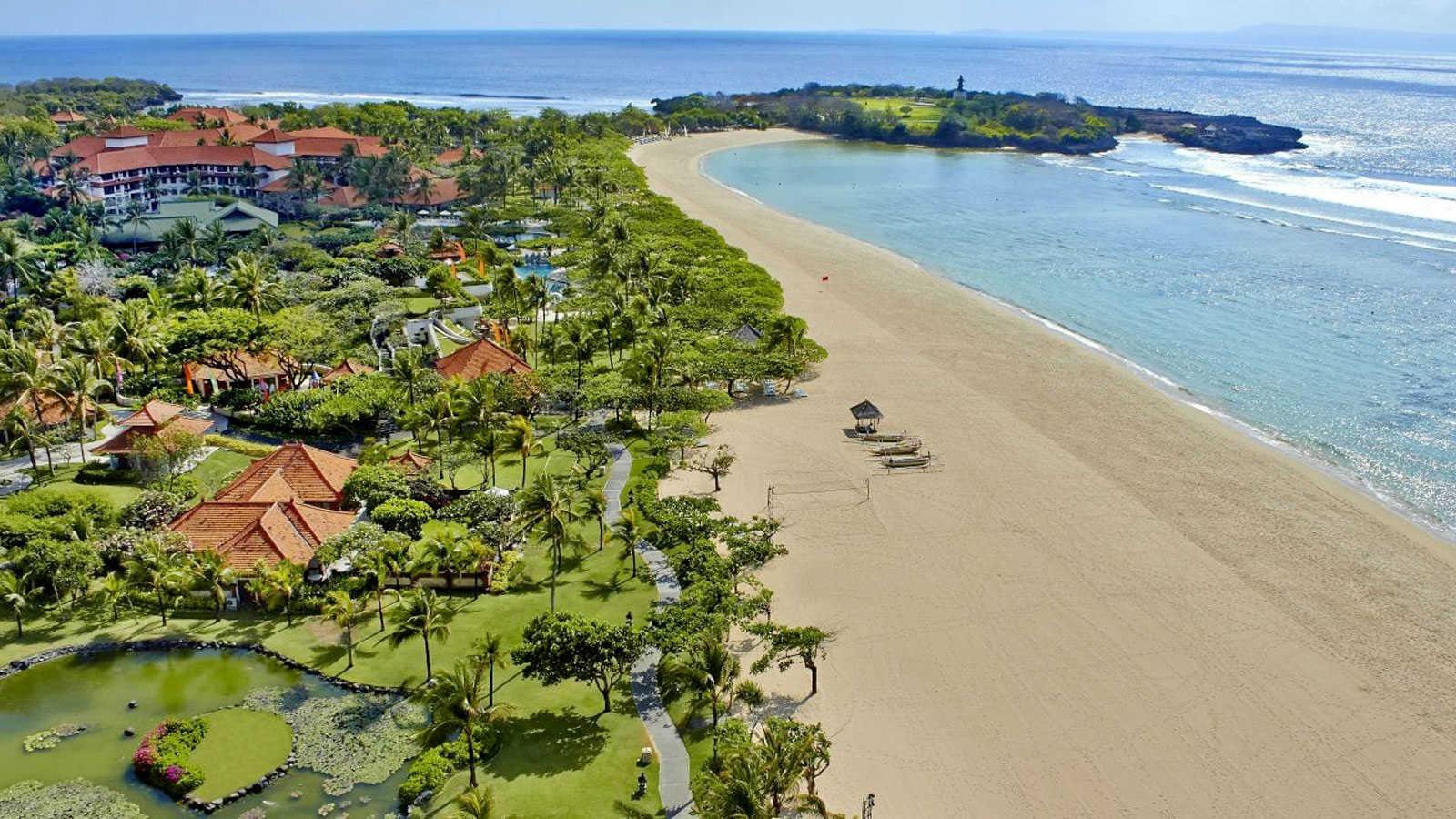 Вид на пляж Бали