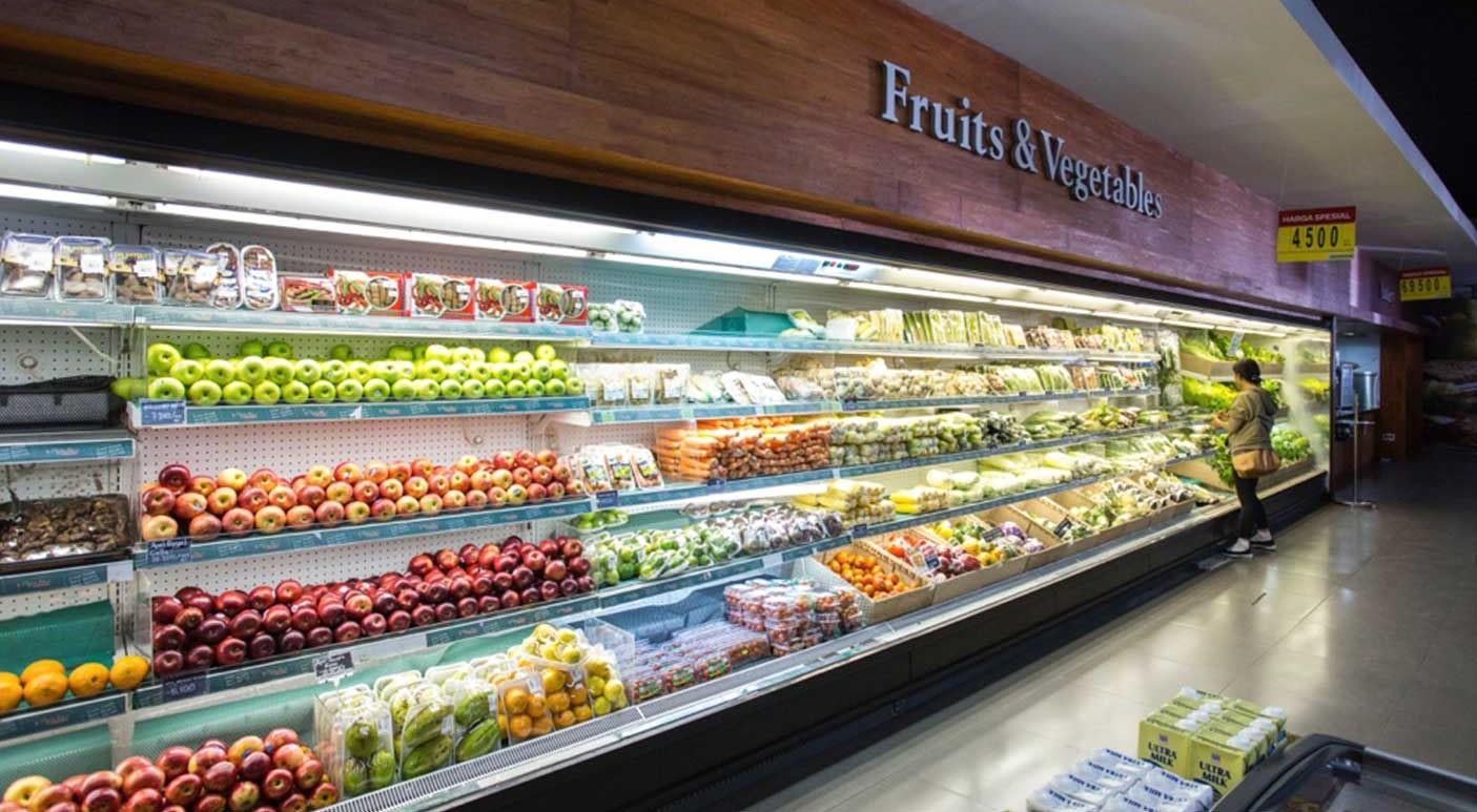 Продукты в супермаркете Бали