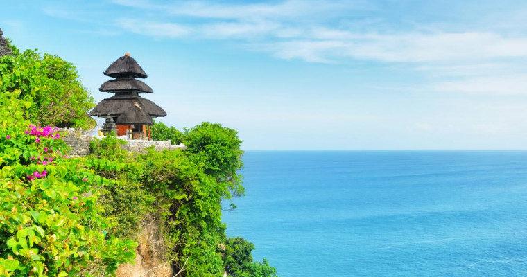 Вид на обрыв Бали