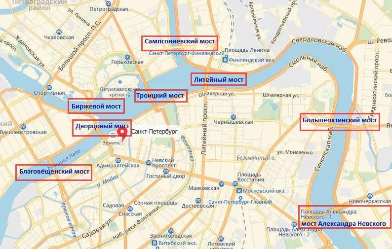 Карта мостов