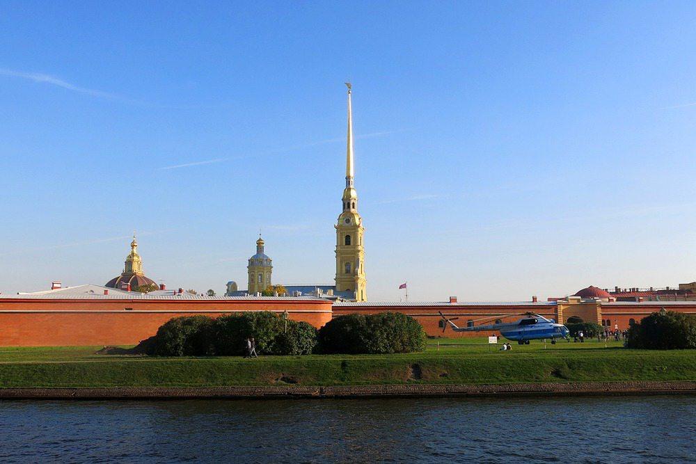 Петропавловская крепость вертолет