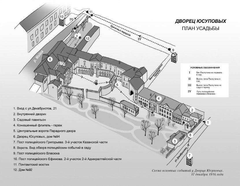 карта расположения дворца