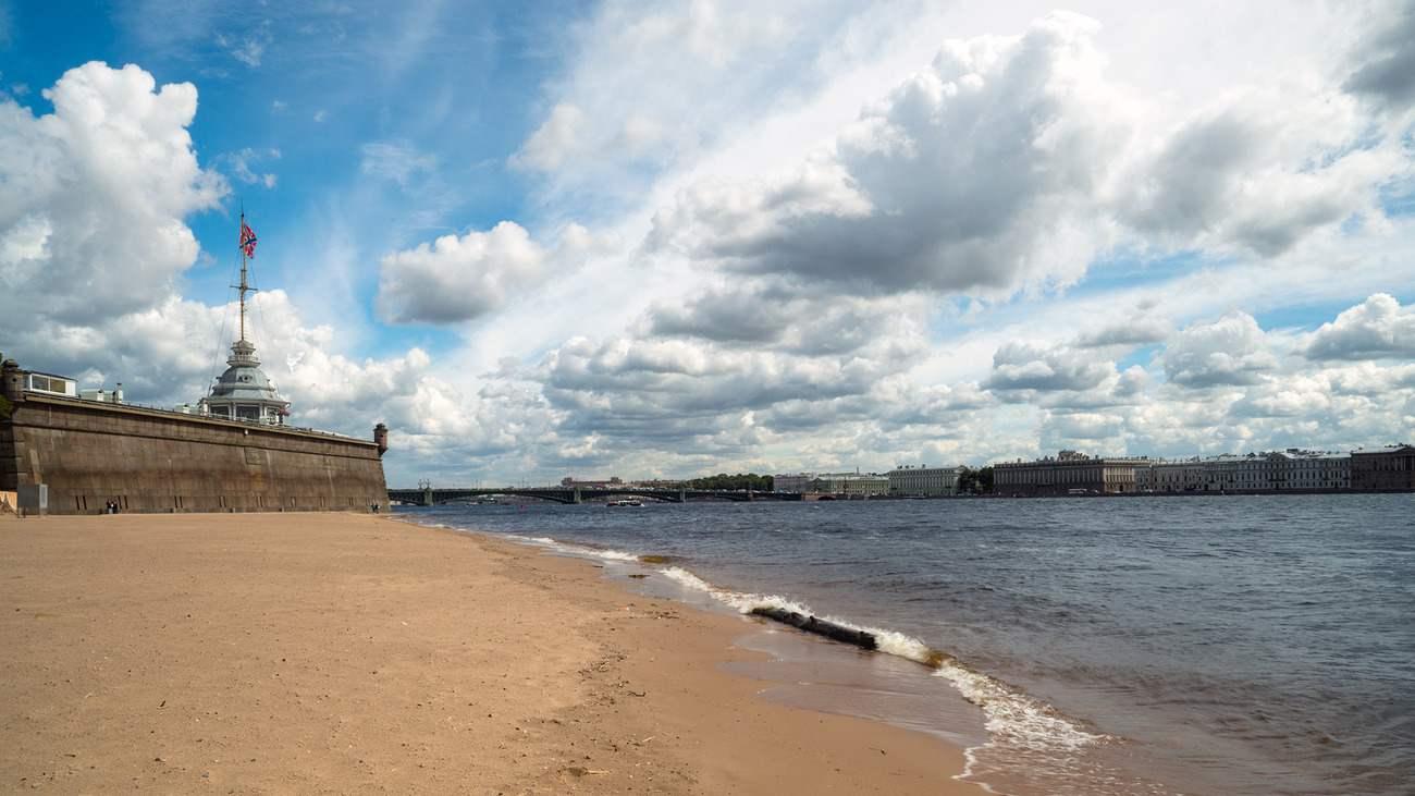 Петропавловская крепость пляж