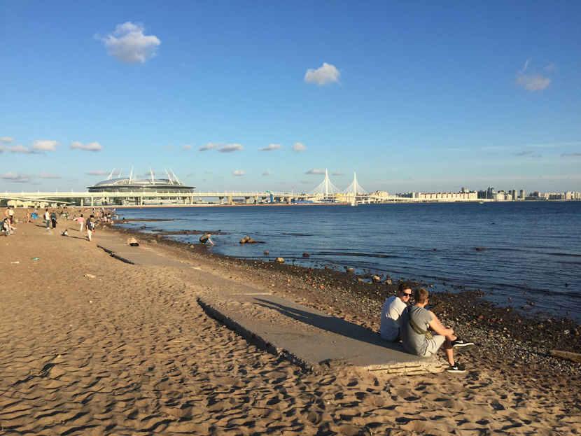 Пляж в Петербурге