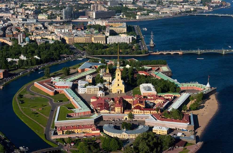 Петропавловская крепость сверху