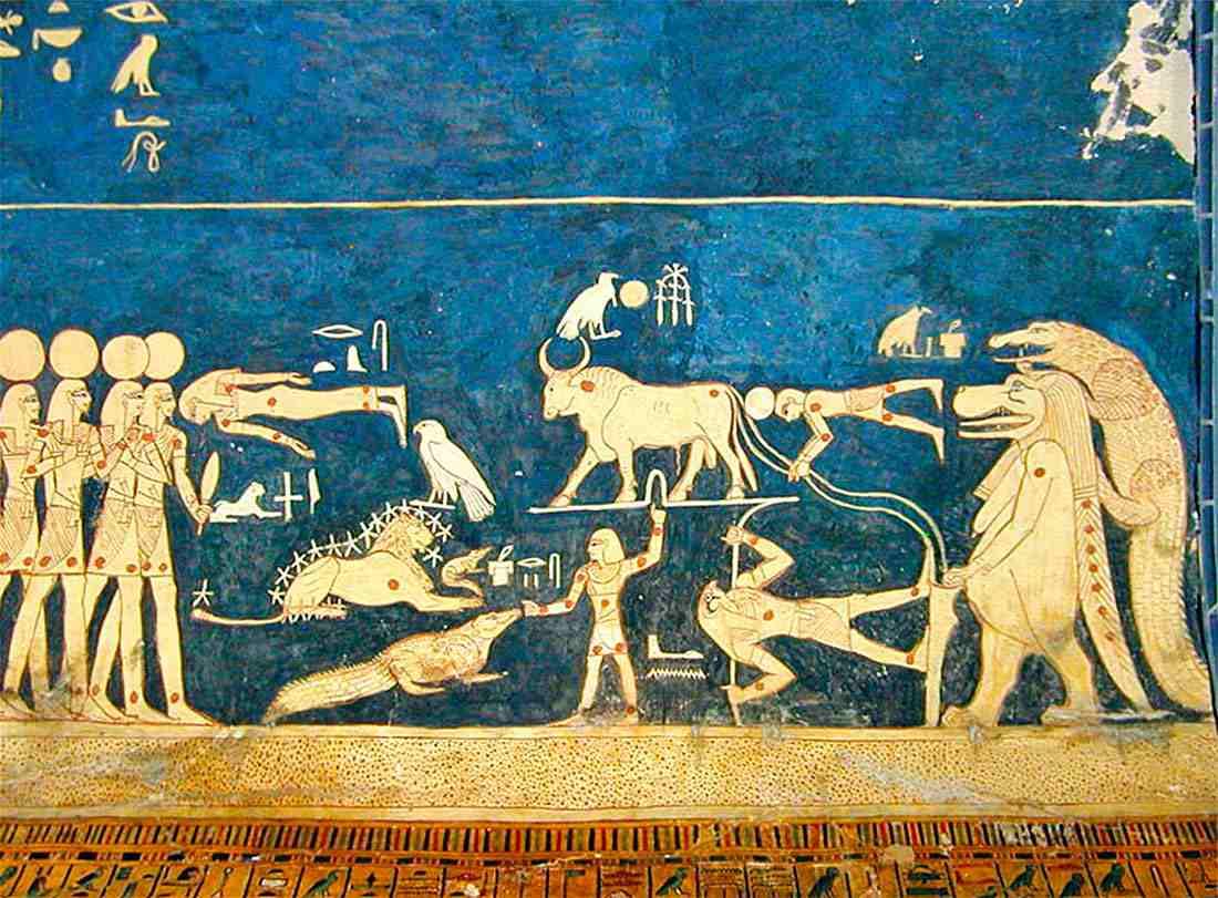 Гробница Сети I барельеф