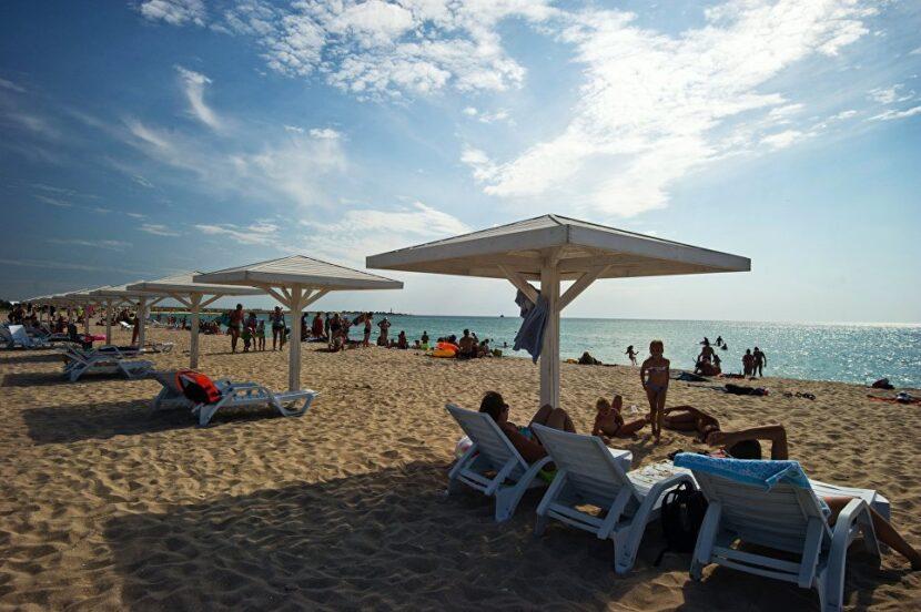 Пляж поселка Героевка