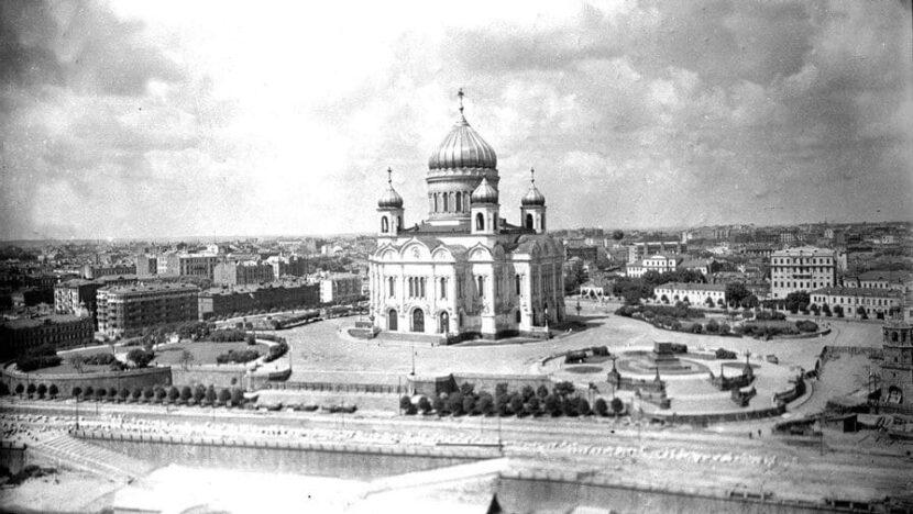 Храм Христа Спасителя в Москве в 1931 году