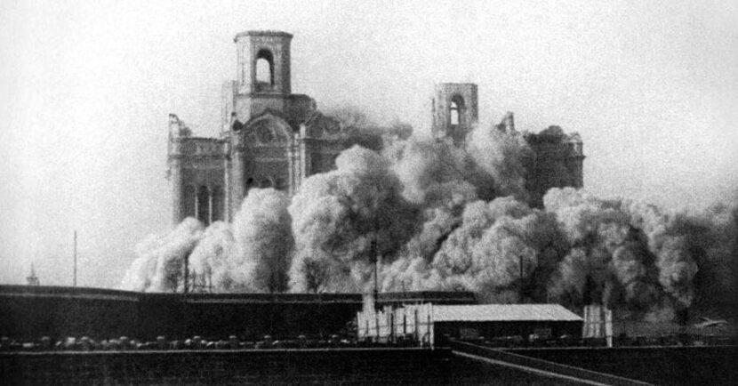Взрыв и снос храма Христа Спасителя