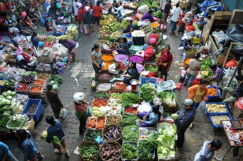 Утренний рынок Убуда