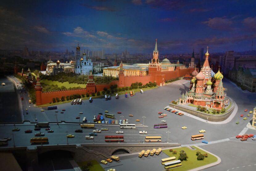 Посещение диорамы Москвы