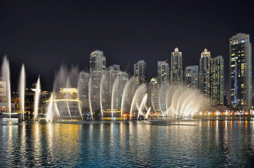 Дубайские фонтаны: