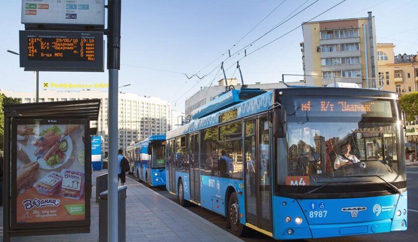 Автобусы, троллейбусы и трамваи в Москве
