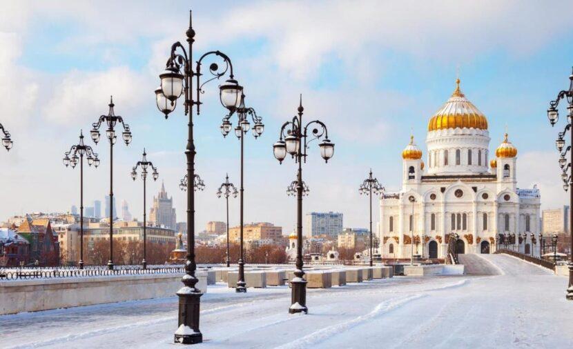 Белое Рождество в Москве.