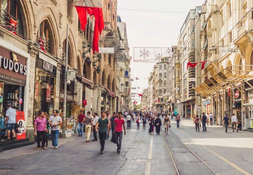 Улица у площади Таксим