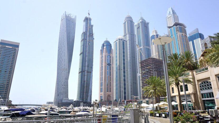 Дубай Марина небоскрёбы