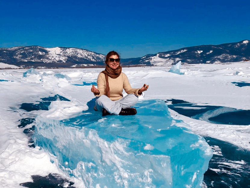 катание на льдине