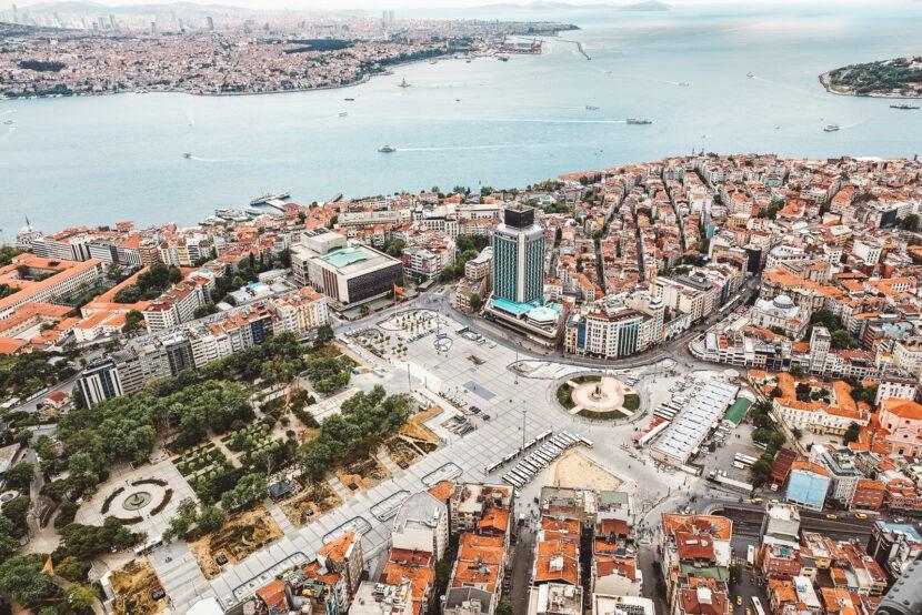 Площадь Таксим с высоты птичьего полёта