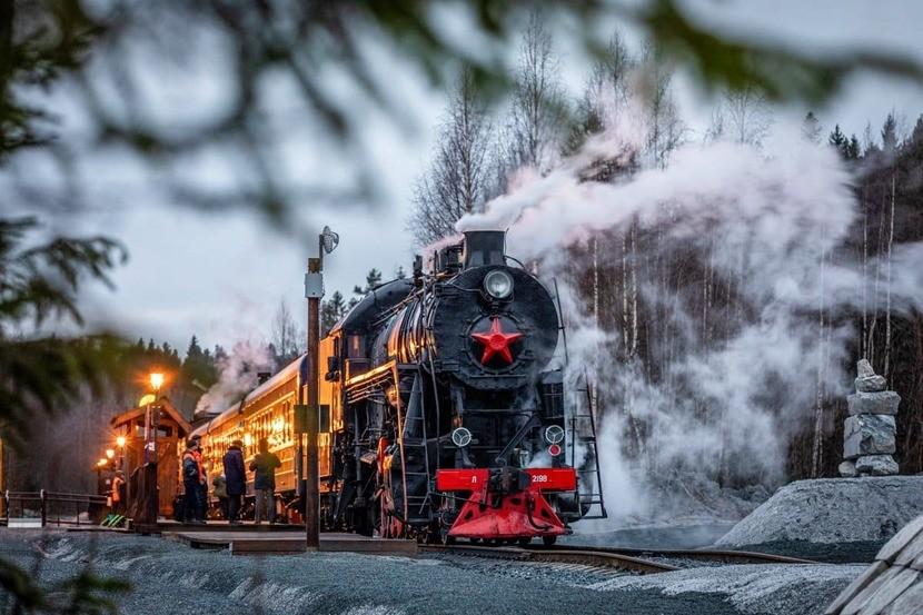 Паровоз Ruskeala Express