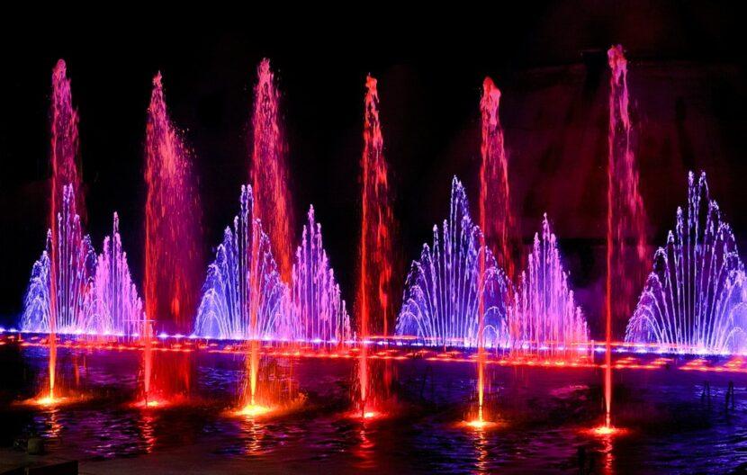 Танцующий фонтан в Султанахмете