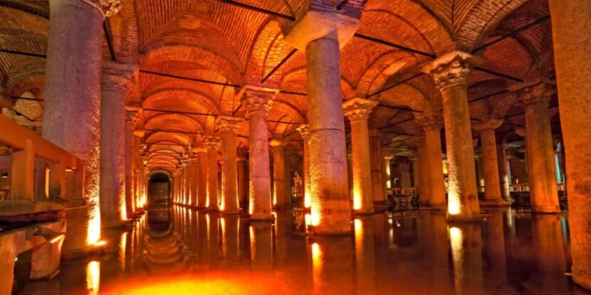 Внутри цистерны Базилика