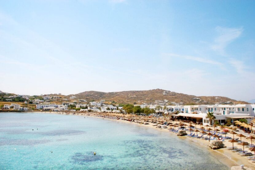 Пляж Орнос на Миконосе - описание, инфраструктура, фото