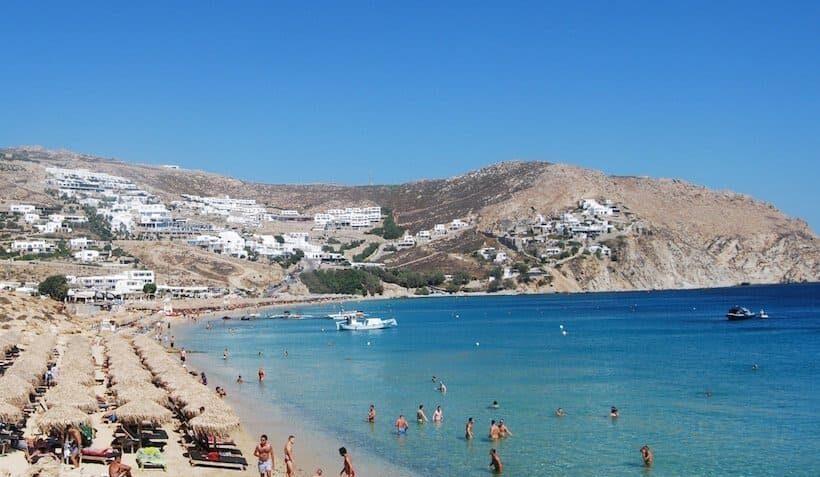 Пляж Элия на Миконосе - описание, инфраструктура, фото